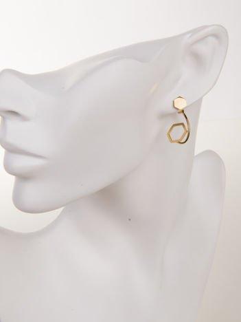 Złote kolczyki damskie - wykonane z najwyższej jakości STALI CHIRURGICZNEJ 316L