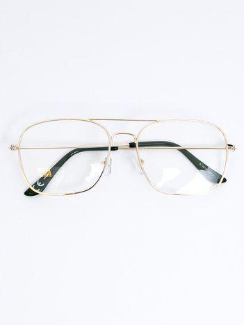 Złote okulary zerówki