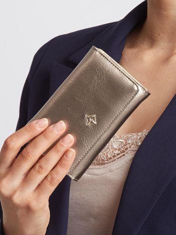Złoty portfel z ekoskóry