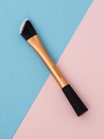 Złoty skośny pędzel do makijażu