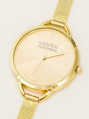 Złoty zegarek damski na delikatnej bransolecie