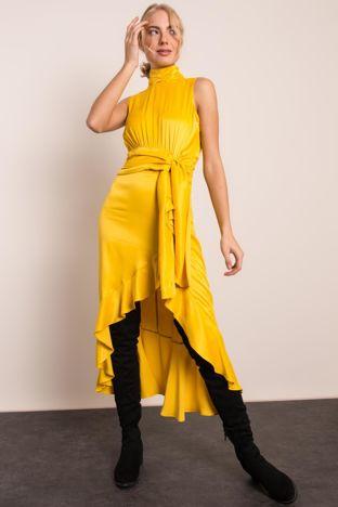 Żółta asymetryczna sukienka BSL