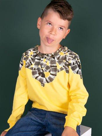 Żółta bluza dla chłopca z nadrukiem