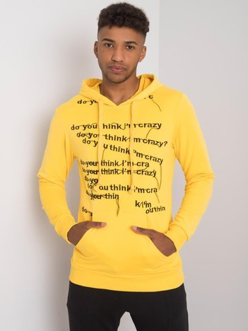 Żółta bluza męska z napisami Camden