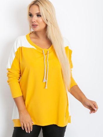 Żółta bluza plus size Elliot