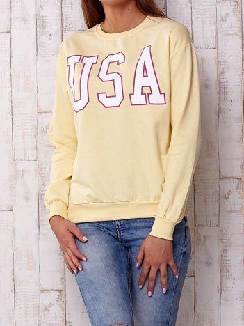 Żółta bluza z napisem USA