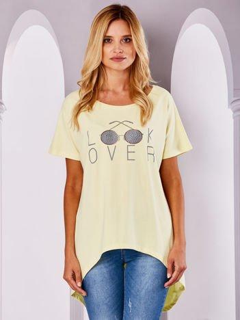 Żółta bluzka LOOK OVER