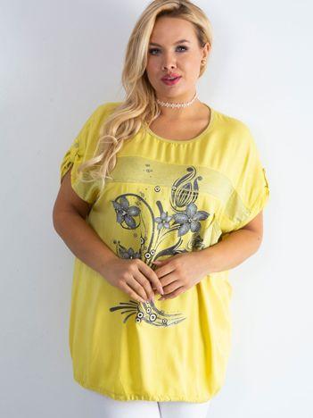 Żółta bluzka Mounty PLUS SIZE