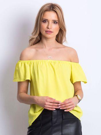Żółta bluzka Structured