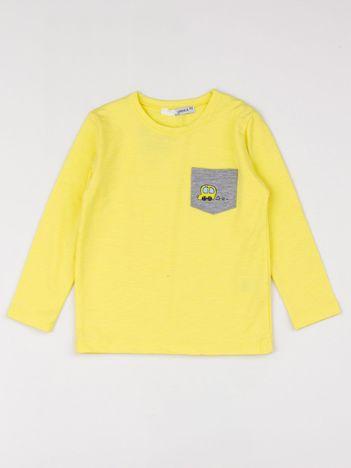 Żółta bluzka dziecięca z kieszonką