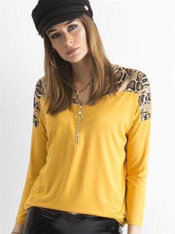 Żółta bluzka z zamkiem