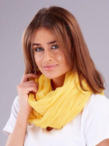Żółta chusta z błyszczącymi cyrkoniami