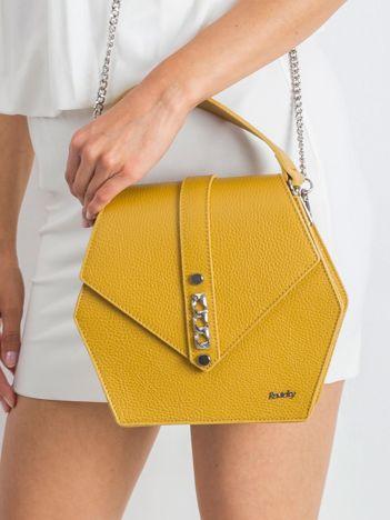 Żółta damska torebka ze skóry