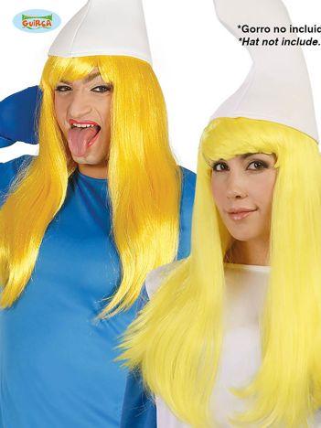 Żółta długa peruka