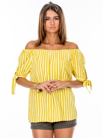 Żółta hiszpanka w paski