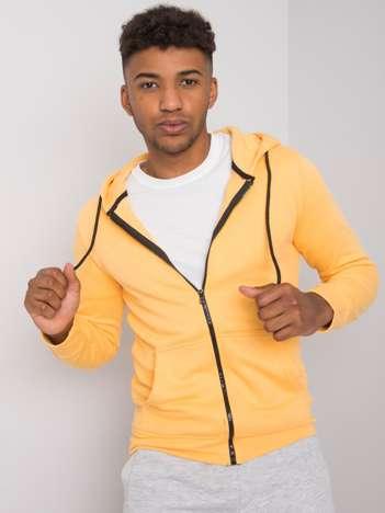 Żółta męska bluza na suwak Bobby