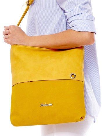 Żółta modułowa torba listonoszka