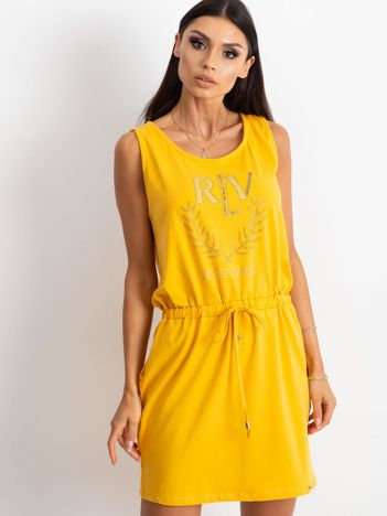 Żółta sukienka Embellishment