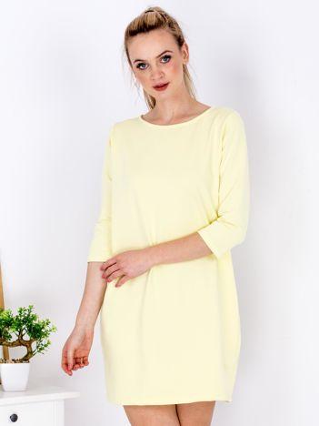 Żółta sukienka z suwakiem