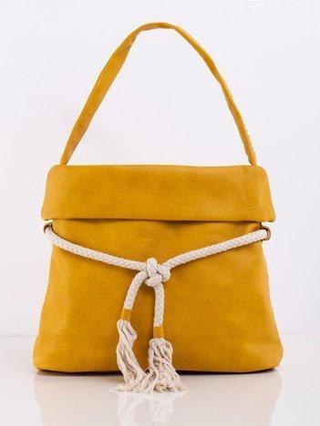Żółta torba z wiązaniem
