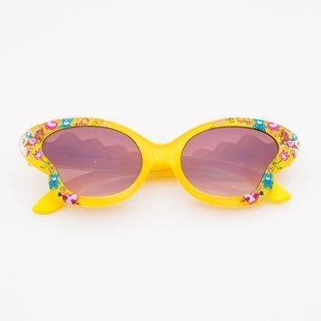 Żółte Dziecięce Okulary przeciwsłoneczne MOTYL