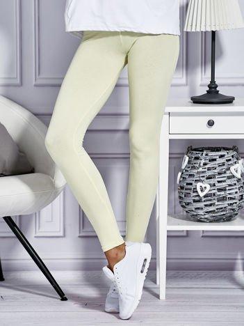 Żółte legginsy basic