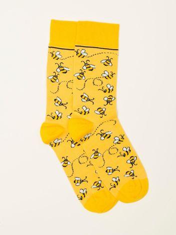 Żółte skarpety męskie
