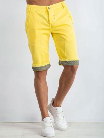 Żółte spodenki męskie Melrose