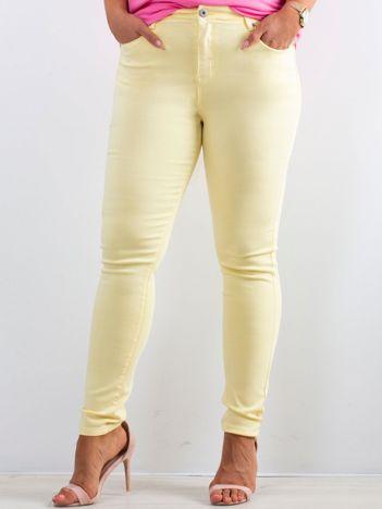 Żółte spodnie North PLUS SIZE