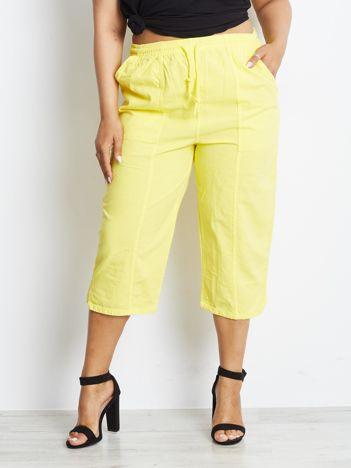 Żółte spodnie plus size Contraction
