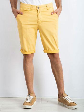 Żółte szorty męskie Champ