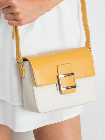 Żółto-beżowa torebka z ekoskóry