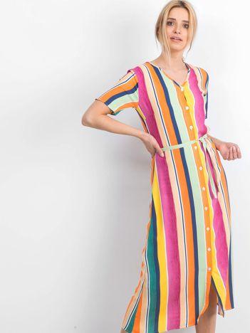 Żółto-różowa sukienka Mishaps