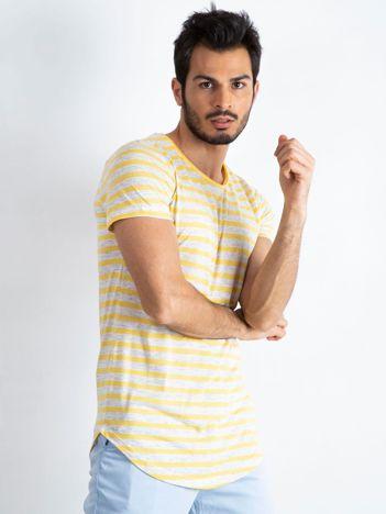 Żółto-szary t-shirt męski Motivated