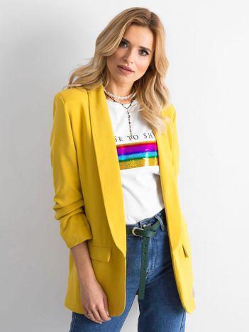 Żółty damski żakiet