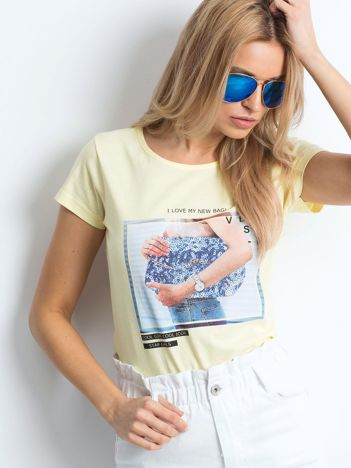 Żółty t-shirt Leisure