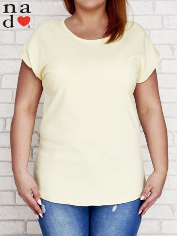 Żółty t-shirt basic PLUS SIZE