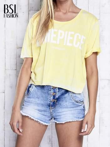Żółty t-shirt cropped DIMEPIECE