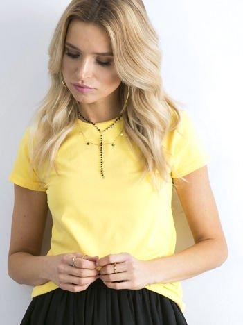 Żółty t-shirt damski