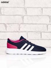ADIDAS granatowe buty sportowe na wysokiej podeszwie