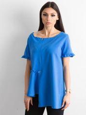 Asymetryczna bluzka niebieska