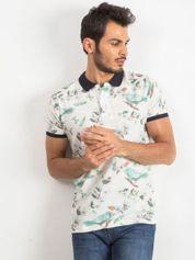 Beżowa męska koszulka polo Crown