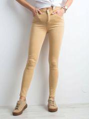 Beżowe spodnie skinny