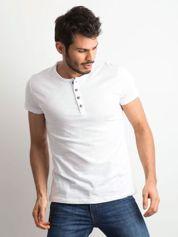 Biała bawełniana koszulka męska