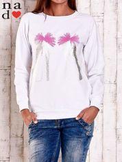 Biała bluza z nadrukiem szpilek
