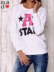 Biała bluza z napisem A STAR