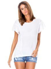 Biała bluzka z szerokimi rękawami