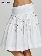 Biała rozkloszowana spódnica z cekinami Funk n Soul