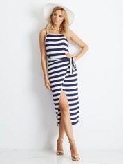 Biało-granatowa sukienka Boutique