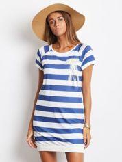 Biało-niebieska sukienka Marine